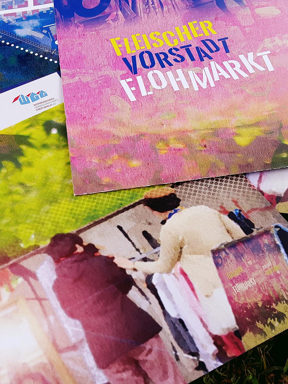 Flyer für den Fleischervorstadt-Flohmarkt, 2019 in Greifswald